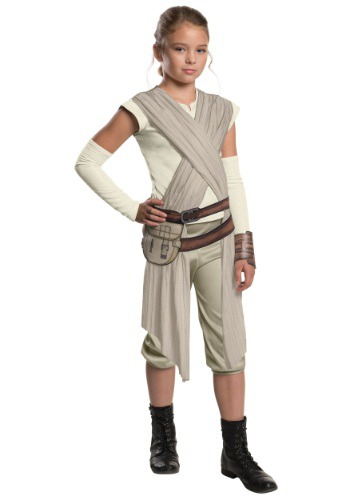Click Here to buy Kids Deluxe Star Wars Ep. 7 Rey Costume from HalloweenCostumes, CDN Funds & Shipping