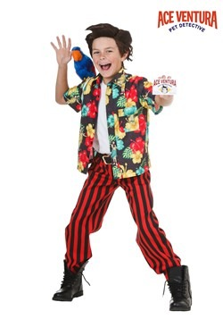Child Ace Ventura Costume with Wig
