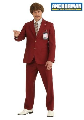 Plus Size Authentic Ron Burgundy Suit