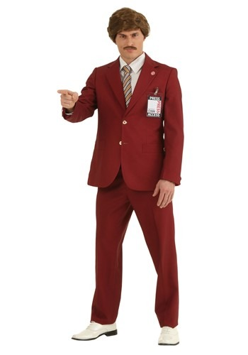 Plus Size Authentic Ron Burgundy Suit Costume 2X