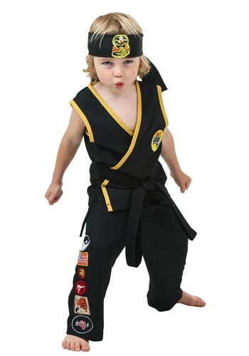 Click Here to buy Toddler Cobra Kai Costume from HalloweenCostumes, CDN Funds & Shipping