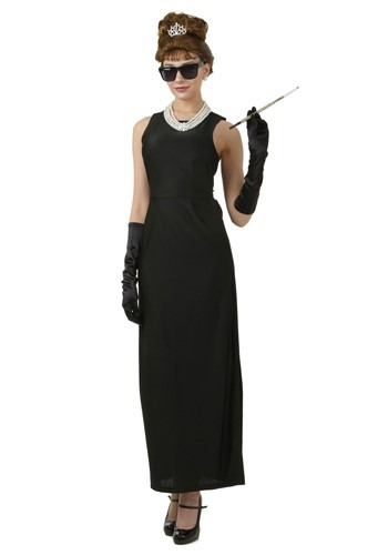 Click Here to buy Plus Size Breakfast at Tiffanys Holly Golightly Costume from HalloweenCostumes, CDN Funds & Shipping
