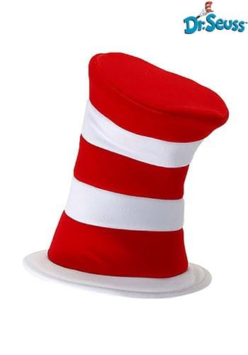 Deluxe Cat in the Hat Plush Velboa Hat for Adults