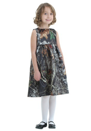 Toddler Mossy Oak Camo Flower Girl Dress Costume