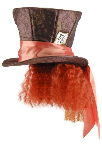 Mad Hatter Hat w/Hair