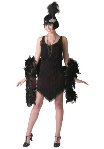 Click Here to buy Deluxe Black Flapper Costume from HalloweenCostumes, CDN Funds & Shipping