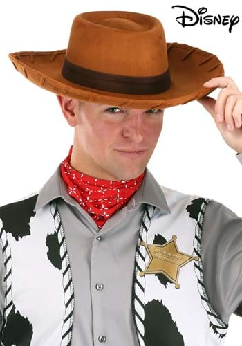 Click Here to buy Adult Deluxe Woody Cowboy Hat from HalloweenCostumes, CDN Funds & Shipping
