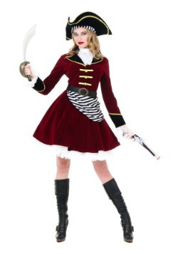 Women's Captain Hook Costume with Hat