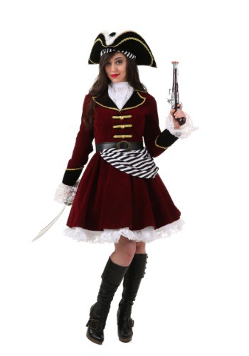 Plus Size Women's Captain Hook Costume with Hat