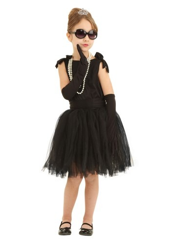 Click Here to buy Kids Breakfast at Tiffanys Holly Golightly Costume from HalloweenCostumes, CDN Funds & Shipping