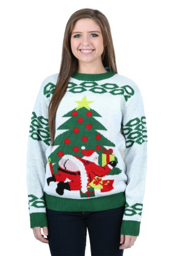 Butt Crack Santa Ugly Christmas Sweater