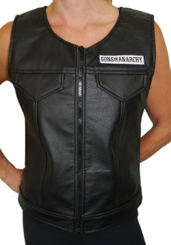 Women's Sons of Anarchy Faux Leather Vest