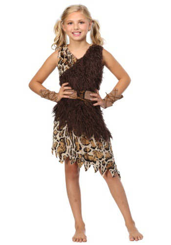Click Here to buy Kids Cavegirl Costume from HalloweenCostumes, CDN Funds & Shipping
