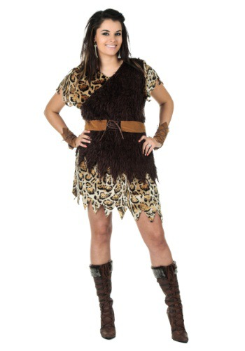 Click Here to buy Plus Size Cavewoman Costume from HalloweenCostumes, CDN Funds & Shipping