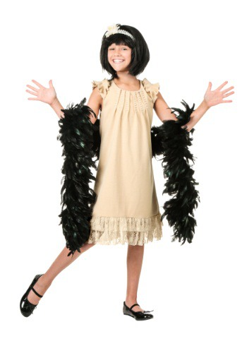 Click Here to buy Kids Pearl and Lace Flapper Costume from HalloweenCostumes, CDN Funds & Shipping