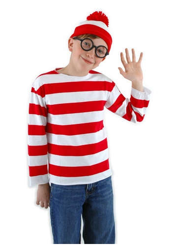 Click Here to buy Kids Waldo Costume from HalloweenCostumes, CDN Funds & Shipping