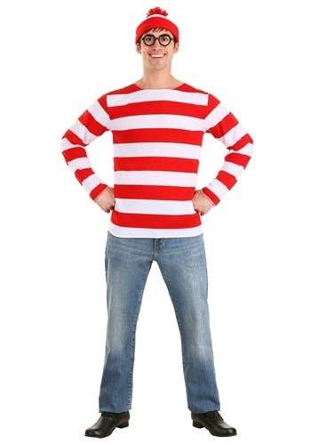 Click Here to buy Where's Waldo Costume  Sizes Available from HalloweenCostumes, CDN Funds & Shipping