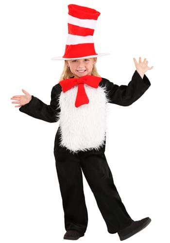 Click Here to buy Deluxe Toddler Cat in the Hat Costume from HalloweenCostumes, CDN Funds & Shipping