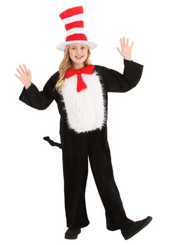 Click Here to buy Deluxe Kids Cat in the Hat Costume from HalloweenCostumes, CDN Funds & Shipping
