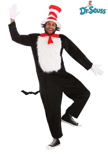 Click Here to buy Deluxe Adult Cat in the Hat Costume from HalloweenCostumes, CDN Funds & Shipping