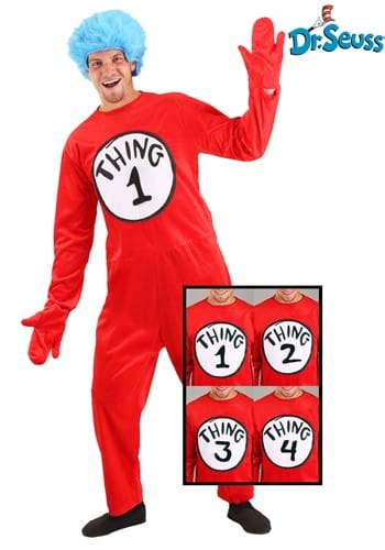 Click Here to buy Adult Thing 1 and 2 Costume | Dr Suess Costumes | Group Costume from HalloweenCostumes, CDN Funds & Shipping
