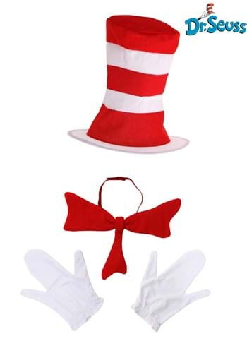 Click Here to buy Adult Cat in the Hat Accessory Costume Kit from HalloweenCostumes, CDN Funds & Shipping