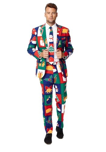 Mens Quilty Pleasure Holiday Opposuit Costume