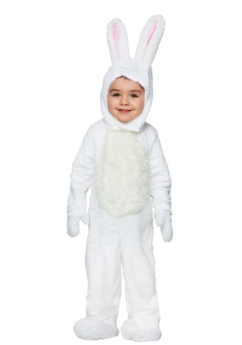 Click Here to buy Toddler Open Face White Bunny Costume from HalloweenCostumes, CDN Funds & Shipping