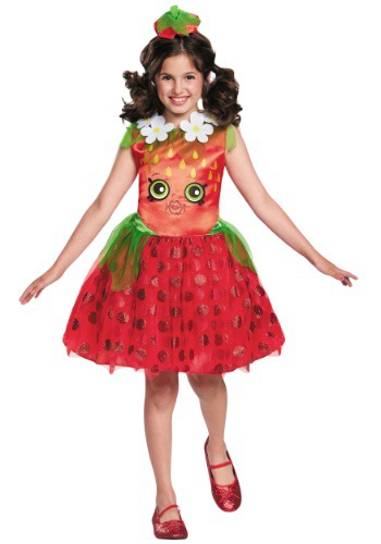 Click Here to buy Shopkins Strawberry Kiss Classic Girls Costume from HalloweenCostumes, CDN Funds & Shipping