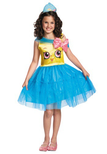 Click Here to buy Shopkins Cupcake Queen Classic Girls Costume from HalloweenCostumes, CDN Funds & Shipping