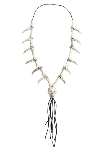 Adult Faux Ivory Necklace W/ Skull Pendant