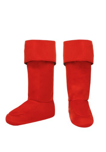 Child Red Superhero Boot Covers