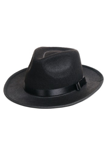 Click Here to buy Black Gangster Hat from HalloweenCostumes, CDN Funds & Shipping