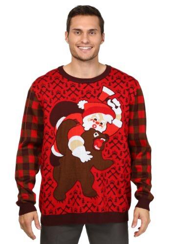 Santa vs. Bear Christmas Sweater