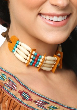 Tan Beaded Native Choker
