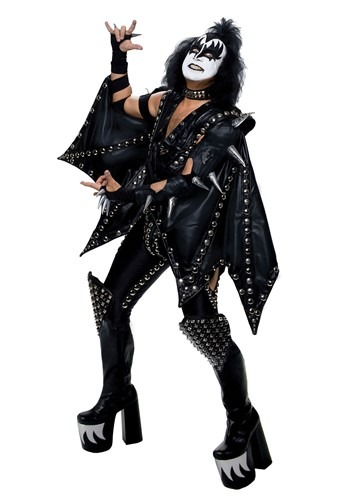 Click Here to buy Plus Size Authentic Gene Simmons KISS Costume from HalloweenCostumes, CDN Funds & Shipping