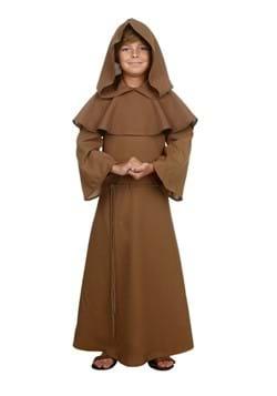 Child Brown Monk Robe-1
