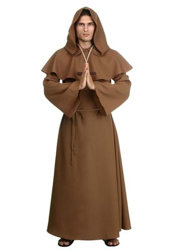 Click Here to buy Plus Size Brown Monk Robe Costume from HalloweenCostumes, CDN Funds & Shipping