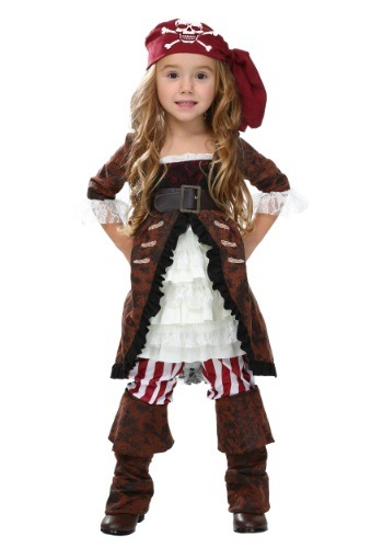 Click Here to buy Toddler Brown Coat Pirate Costume from HalloweenCostumes, CDN Funds & Shipping