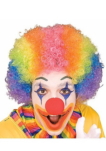 Rainbow Clown Wig