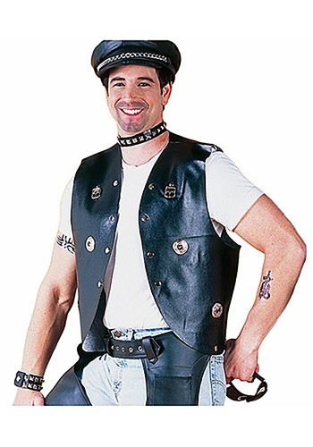 Click Here to buy Biker Costume Vest from HalloweenCostumes, CDN Funds & Shipping