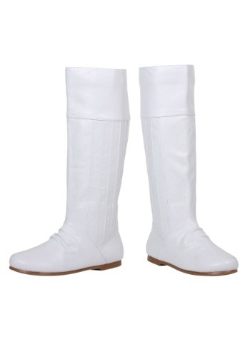Click Here to buy White Princess Boots from HalloweenCostumes, CDN Funds & Shipping