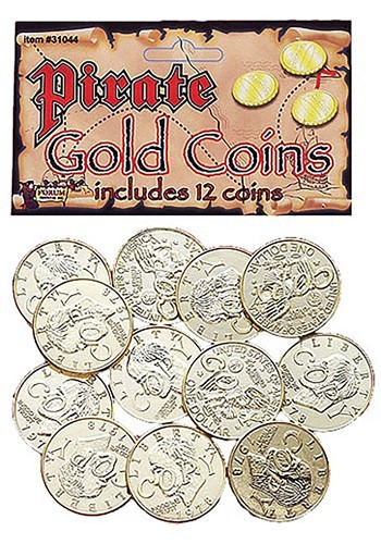 Click Here to buy Gold Pirate Coins from HalloweenCostumes, CDN Funds & Shipping