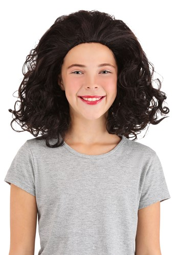 Bouncy Brown Curly Wig for Girls