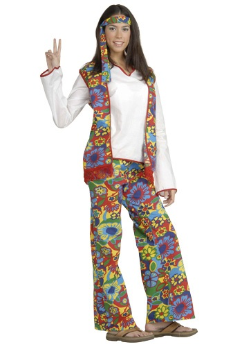 Click Here to buy Hippie Chick Costume from HalloweenCostumes, CDN Funds & Shipping