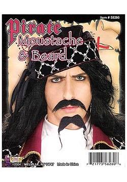 Pirate Black Beard & Mustache