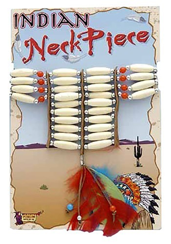 Click Here to buy Beaded Native American Necklace w/ Feathers from HalloweenCostumes, CDN Funds & Shipping