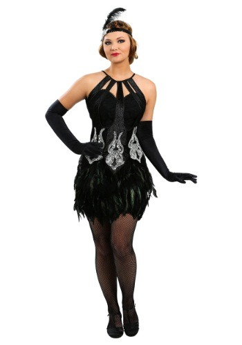 Click Here to buy Womens Feathered Showgirl Costume from HalloweenCostumes, CDN Funds & Shipping