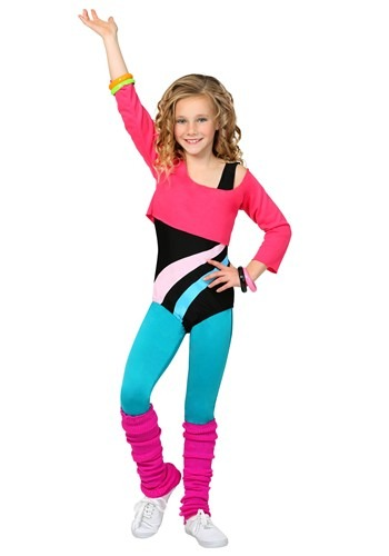 Click Here to buy Kids 80s Workout Girl Costume from HalloweenCostumes, CDN Funds & Shipping