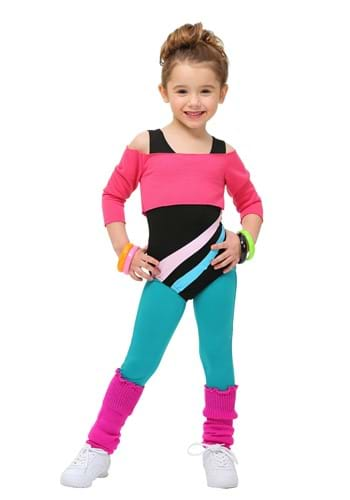 Click Here to buy Toddler 80s Workout Girl Costume from HalloweenCostumes, CDN Funds & Shipping